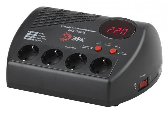 ЭРА Б0031071 СНК-500-Ц Стабилизатор напр. компакт, ц.д., 160-260В/220В, 500ВА