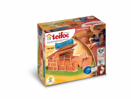 Конструктор TEIFOC Конюшня TEI 1021 teifoc конструктор из кирпичиков teifoc серпантин 210 деталей