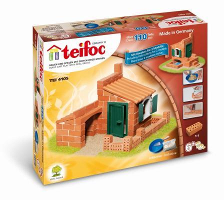 Конструктор TEIFOC Дом 110 элементов TEI 4105 teifoc конструктор из кирпичиков teifoc серпантин 210 деталей