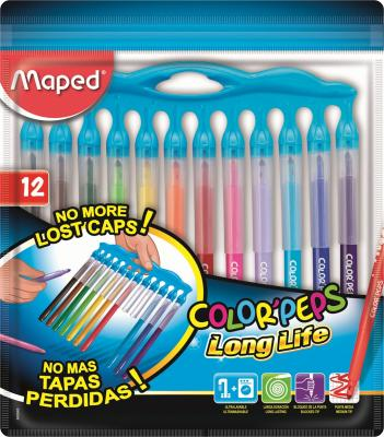 Фломастеры MAPED 845045 COLORPEPS LONG LIFE 12цв цена