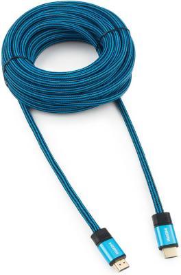 Фото - Кабель HDMI 10м Cablexpert CC-G-HDMI01 круглый синий кабель hdmi hdmi v2 0 3 0м cablexpert platinum cc p hdmi01 3m металлический корпус ферритовые кольца блистер