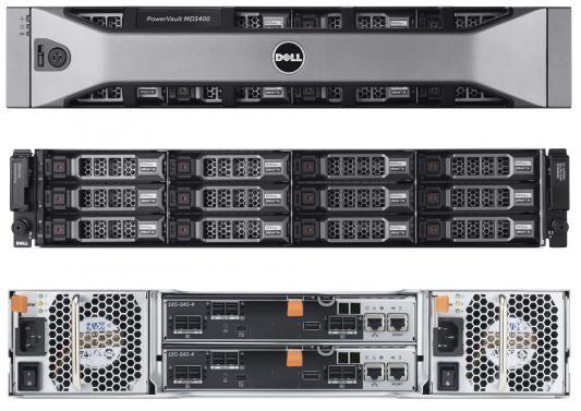 Дисковый массив Dell PV MD3400 x12 4x4Tb 7.2K 3.5 NL SAS 2x600W PNBD 3Y 2x2Ctrl 4Gb Cache (210-ACCG-20) дисковая полка dell pv md1220 210 30718 41