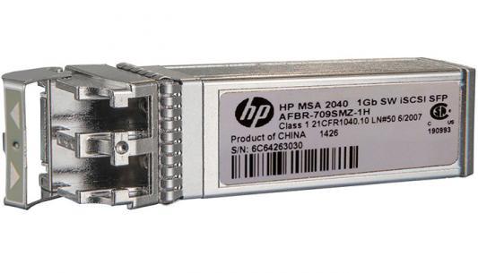 Трансивер HPE MSA 2050 1Gb RJ-45 iSCSI Channel SFP+ 4-Pack (C8S75B) трансивер hp blc vc 1gb rj 45 sfp opt kit 453154 b21