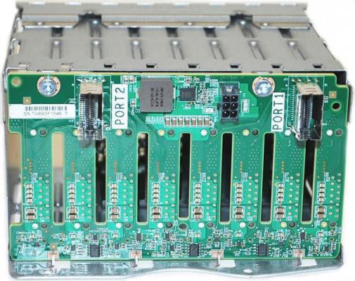 лучшая цена Корзина для жестких дисков HPE DL38X Gen10 SFF Box1/2 Cage/Backplane Kit (826691-B21)