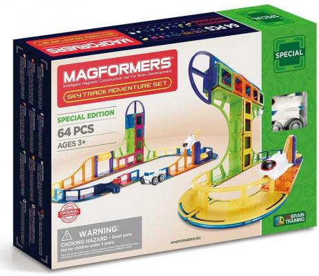 Магнитный конструктор Magformers Sky Track Adventure set 64 элемента 799012 cuteroom 1 32dollhouse diy kit light with cover starry sky adventure stand joint model