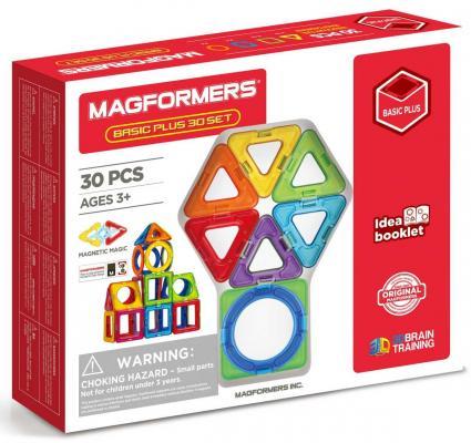 Магнитный конструктор Magformers Basic Plus 30 set 30 элементов 715015 magformers magformers магнитный конструктор power vehicle set
