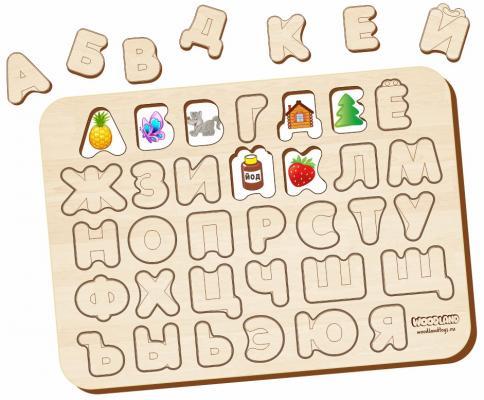 Рамка-вкладыш WOODLAND 092102 Изучаем буквы и алфавит 1 рамка вкладыш woodland 011103 ёжик