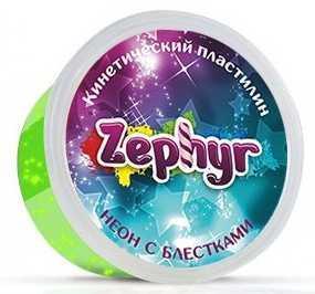 Купить Масса для лепки ZEPHYR 00-00000865 Зелёная неоновая с блёстками, Тесто и масса для лепки