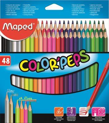 Набор цветных карандашей Maped Color Peps 48 шт 832048 maped карандаши цветные color peps треугольные 12 цветов maped