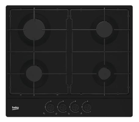 Варочная панель газовая Beko HIAG 64223 B черный кронштейны для телевизоров bello 7410 b