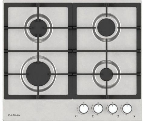 Варочная панель газовая DARINA 1T3 BGM341 11 X3 серебристый цена
