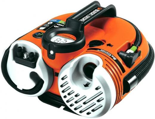 Компрессор BLACK & DECKER ASI500-QW аккумулятор 3.5а/ч 8.3bar фонарь дисплей аксессуары аксессуары