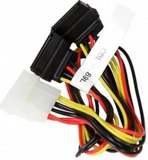 Кабель SuperMicro CBL-0289L 1x 4-pin to 2x SATA sata 15 7 pin female to ide 4 pin male sata 7 pin female adapter cable 50cm length