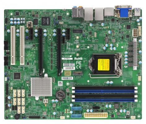 Материнская плата Supermicro MBD-X11SAE-F-B Socket 1151 C236 4xDDR4 2xPCI-E 16x 8 ATX материнская плата сервера supermicro mbd x10slm f b mbd x10slm f b