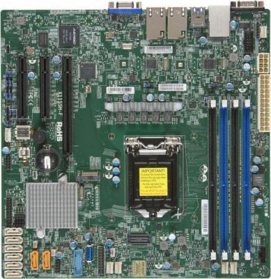Материнская плата Supermicro MBD-X11SSH-F-B Socket 1151 C236 4xDDR4 1xPCI-E 4x 2xPCI-E 8x 8 mATX материнская плата supermicro mbd x11ssz f o socket 1151 c236 4xddr4 1xpci e 16x 2xpci e 4x 4xsataiii