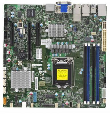 Материнская плата Supermicro MBD-X11SSZ-TLN4F-O Socket 1151 C236 4xDDR4 1xPCI-E 16x 2xPCI-E 4x 4 mATX Retail