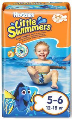 Купить HUGGIES Подгузники-трусики для плавания размер 5-6 12-18кг 12шт, дышащие, Подгузники и трусики подгузники