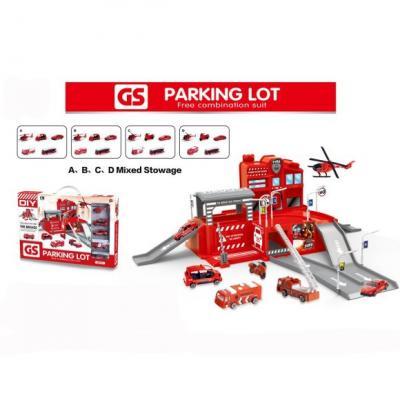 Пожарная станция Наша Игрушка Пожарная станция красный CM559-11 набор наша игрушка автозаправочная станция аэродром цвет в ассортименте cm559 3