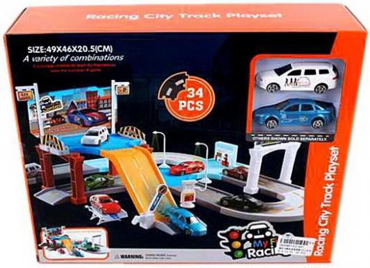 Парковка Город, 2 уровня, машина 2шт., деталей 34шт., коробка