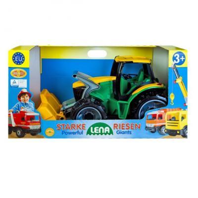 купить Трактор Лена Трактор с грейдером и ковшом зеленый 2057 по цене 1460 рублей