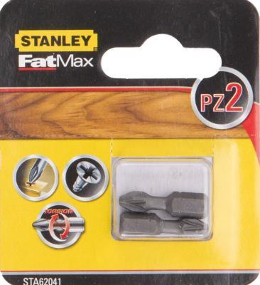 Бита STANLEY STA62041-XJ FatMax Torsion PZ2х25мм 2 шт бита stanley sta62041 xj fatmax torsion pz2х25мм 2 шт