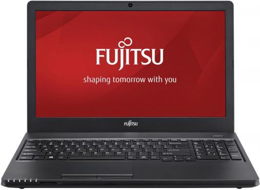 Ноутбук Fujitsu LifeBook A357 Core i5 7200U/4Gb/1Tb/DVD-RW/Intel HD Graphics 620/15.6/HD (1920x1080)/noOS/black/WiFi/BT/Cam ноутбук fujitsu 1 3g 15