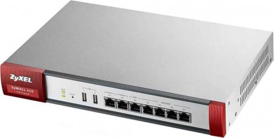 Сетевой экран Zyxel USG110-RU0102F 10/100/1000BASE-TX сетевой экран zyxel nsg50 nsg50 zz0101f 10 100 1000base tx серебристый