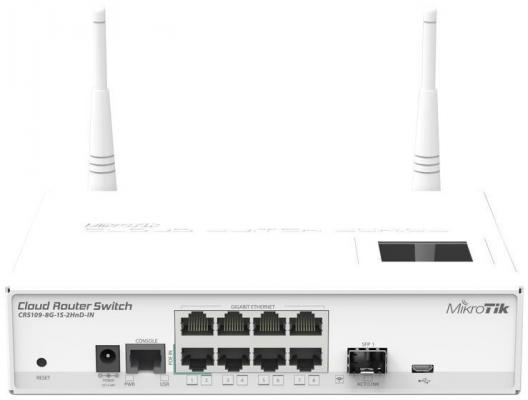 все цены на Коммутатор MikroTic CRS109-8G-1S-2HND-IN 8G 1SFP управляемый онлайн