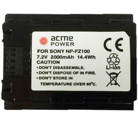 Аккумулятор для компактных камер и видеокамер AcmePower AP-NP-FZ100 acmepower acmepower ap s004e li ion для компактных камер