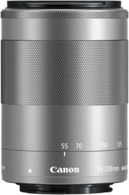 Объектив Canon EF-M IS STM (1122C005) 55-200мм f/4.5-6.3 серебристый объектив canon ef 50 f1 8 stm