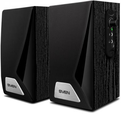Колонки Sven SPS-555 2.0 черный 6Вт колонки sven sps 607 2 0 черный 6вт