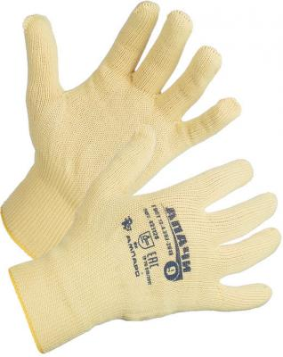 Перчатки ХБ AMPARO Апачи р.9 класс вязки10 Арт.421128-09