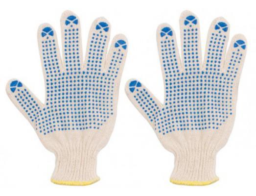 Перчатки вязаные FIT 12485 х/б с ПВХ, вязанные, 3 нити цена