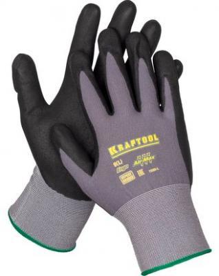 Перчатки KRAFTOOL 11285-L expert нейлоновые 15 класс вспененное нитриловое покрытие l l