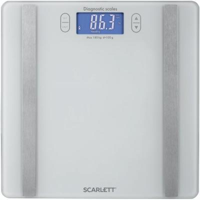 Весы напольные Scarlett SC-BS33ED85 белый мультиварка scarlett sc mc410s18 5л 860вт серебристый белый