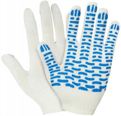 Фото - Перчатки НИЖТЕКСТИЛЬ 0011А х/б с ПВХ 10 класс 44гр волна rus белые перчатки манипула антистатик нейлоновые антистатические белые без пвх