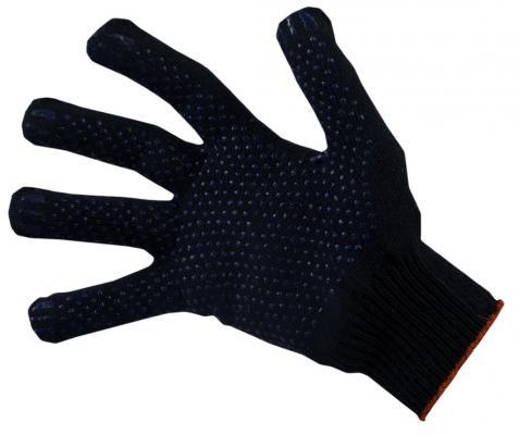 Перчатки НИЖТЕКСТИЛЬ 0014P-1 х/б с ПВХ 10 класс 47гр точка черные Люкс