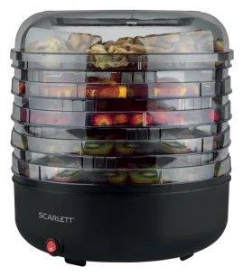 Сушка для фруктов и овощей Scarlett SC-FD421010 5под. 250Вт черный сушилка для овощей и фруктов scarlett sc fd421005