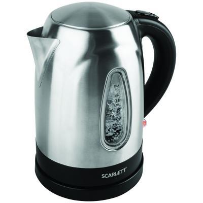Чайник электрический Scarlett SC-EK21S62 1.7л. 2200Вт нержавеющая сталь электрический чайник scarlett sc ek18p15
