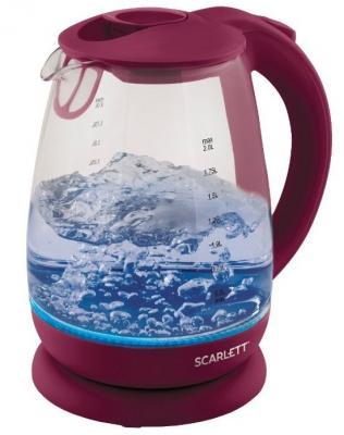 Чайник электрический Scarlett SC-EK27G39 1.7л. 2200Вт сливовый чайник scarlett sc ek21s32 2200вт 1 7л металл