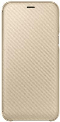 Чехол (флип-кейс) Samsung для Samsung Galaxy A6 (2018) Wallet Cover золотистый (EF-WA600CFEGRU) чехол флип кейс samsung для samsung galaxy a6 2018 wallet cover фиолетовый ef wa600cvegru
