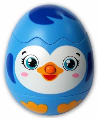 Купить Яйцо-сюрприз Пингвинчик, АЗБУКВАРИК, синий, 14 см, пластик, унисекс, Игрушки со звуком