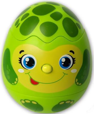 цена на Интерактивная игрушка АЗБУКВАРИК Яйцо-сюрприз Черепашка от 3 лет зелёный 215-2
