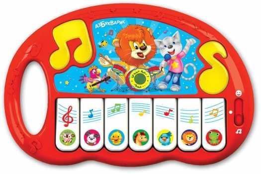 Муз.Игрушка Пианино Волшебные нотки азбукварик планшет веселая радуга с пианино