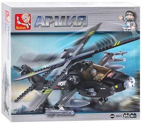 Конструктор SLUBAN Армия, Боевой вертолет 293 элемента цена и фото