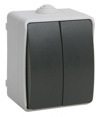 Выключатель IEK Форс 10 A серый ВС20-2-0-ФСр