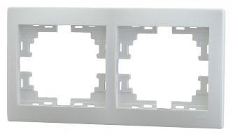 Рамка LEZARD 701-0200-147 серия Мира 2-ая горизонтальная белый