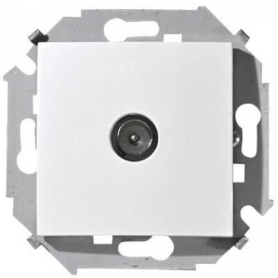 Купить Розетка SIMON 15 1591475-030 TV белая одиночная винтовой зажим, белый