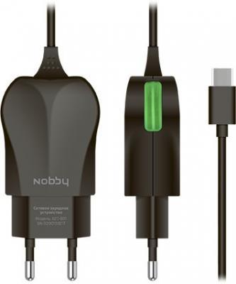 цена на Сетевое зарядное устройство Nobby Practic USB-C 1.2A черный 0102NB-023-001