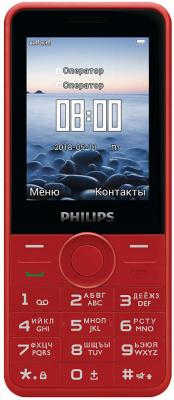 Мобильный телефон Philips E168 красный мобильный телефон philips e168 black